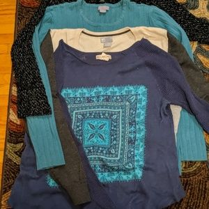 Lot of 4 sweaters, brand name, L